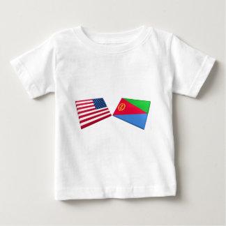 US- u. Eritrea-Flaggen Baby T-shirt