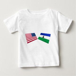 US- u. Lesotho-Flaggen Baby T-shirt