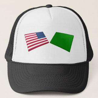 US- u. Libyen-Flaggen Truckerkappe
