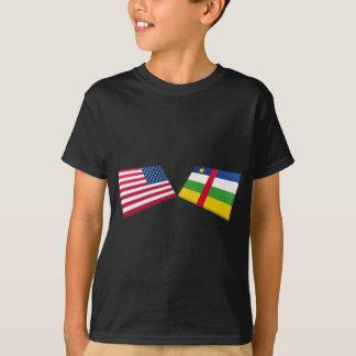 US- u. Republik- Zentralafrikaflaggen T-Shirt