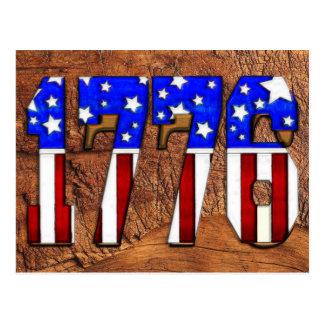 US-Unabhängigkeitstag 1776 Postkarte