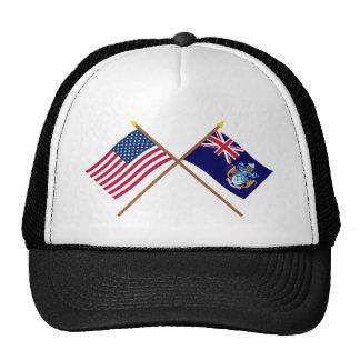 US und Tristan DA Cunha gekreuzte Flaggen Kultmütze