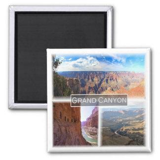 US * USA. Der Grand Canyon Arizona Quadratischer Magnet