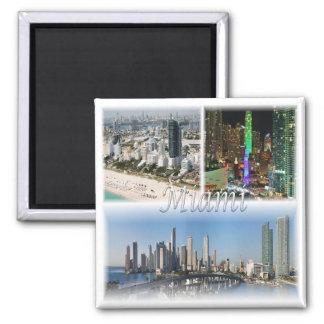 US * USA Miami - Florida USA Quadratischer Magnet