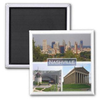 US * USA - Nashville Tennessee Quadratischer Magnet