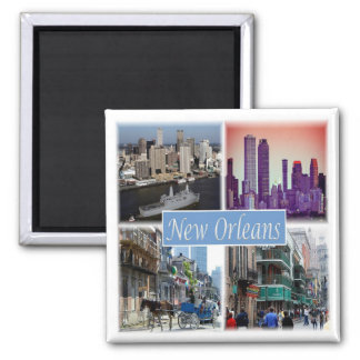 US * USA New Orleans Louisiana USA Quadratischer Magnet