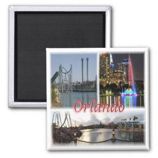 US * USA Orlando Florida USA Quadratischer Magnet