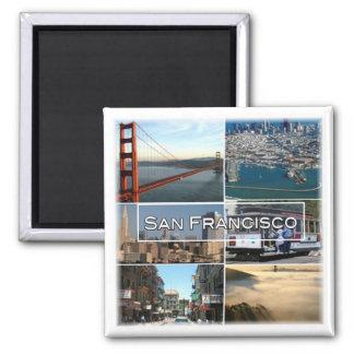 US * USA San Francisco - Kalifornien Quadratischer Magnet