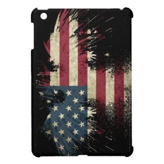 US/USA, TRAURIGE Flagge auf schwarzem Hintergrund iPad Mini Cover