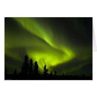 USA, Alaska, Chena heiße Quellen. Aurora Borealis Karte