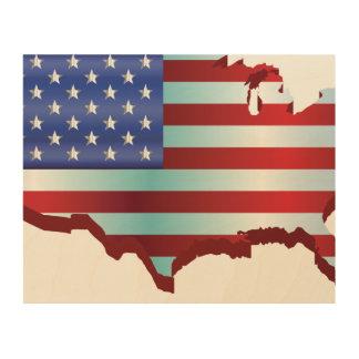 USA am 4. Juli 1776 Holzleinwand