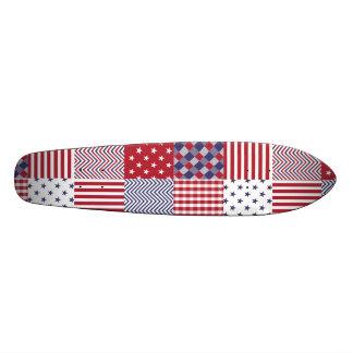 USA-AmericanaPatchwork-rotes weißes u. blau Bedruckte Skateboarddecks