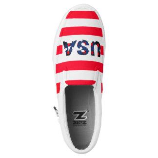 USA Amerika spielt roten weißen blauer Slip-On Sneaker