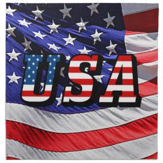 USA - Amerikanische Flagge Serviette