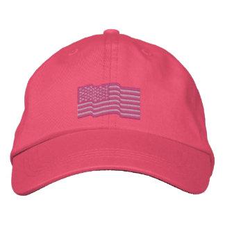 USA-amerikanische Flagge spielt 'gestickte Kappe n Besticktes Baseballcap