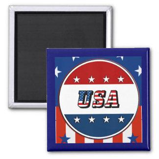 USA - Amerikanische Flagge spielt Magneten des Quadratischer Magnet
