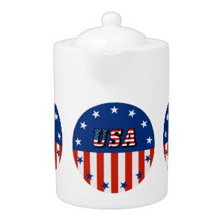 USA - Amerikanische Flagge und Sterne im Kreis