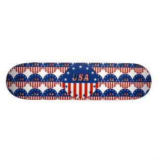 USA - Amerikanische Flagge und Sterne im Kreis 20,1 Cm Skateboard Deck