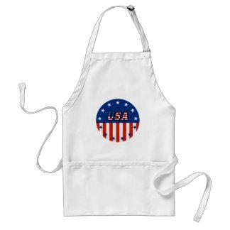 USA - Amerikanische Flagge und Sterne im Kreis Schürze