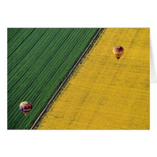 USA Arizona Val Vista Heißluftballone steigen a Karte