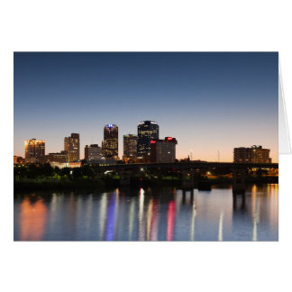 USA, Arkansas, Little Rock, Stadt-Skyline Karte