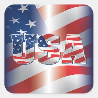 USA-Aufkleber Quadratischer Aufkleber