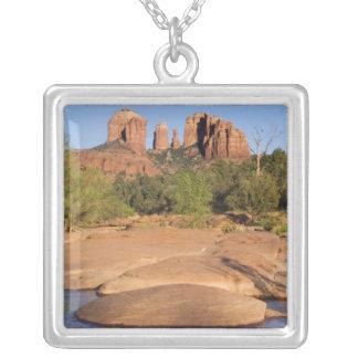 USA, AZ, Kathedralen-Felsen an der roten Versilberte Kette