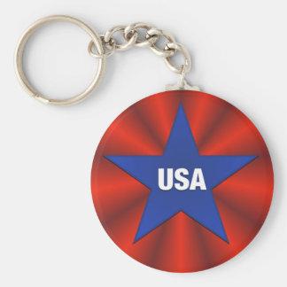USA-Band-Flaggen-Stern Keychain Schlüsselanhänger