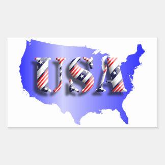 USA blau+ Sterne+ Streifen Aufkleber