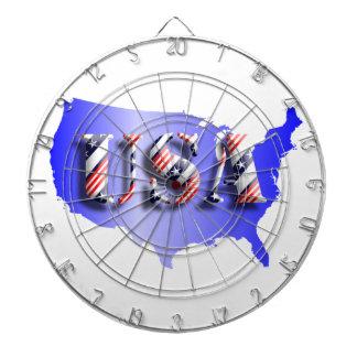 USA blau +Sterne+ Streifen Dartscheibe