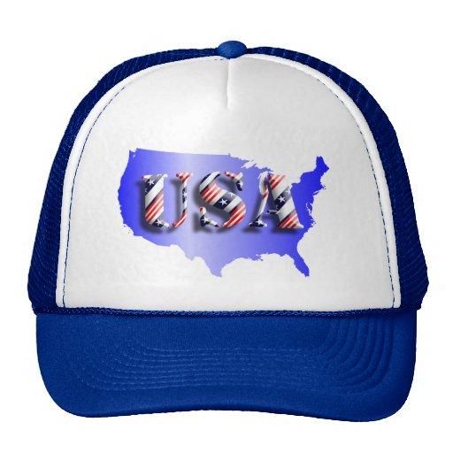 USA blau+ Sterne+ Streifen Truckerkappe