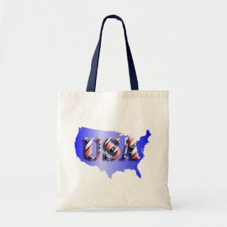 USA blau+Sterne+ Streifen Leinentaschen