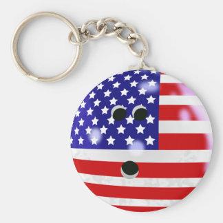USA-Bowlings-Ball Keychain Standard Runder Schlüsselanhänger