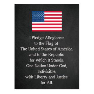 USA-Bürgschaft der Ergebenheits-Flagge Postkarte