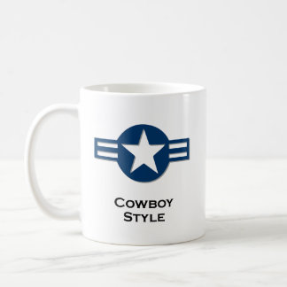 USA-Cowboy-Artblau Kaffeetasse