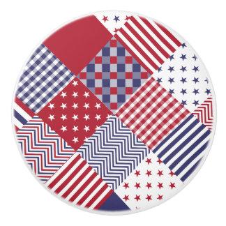 USA diagonale rote weiße u. blaue Keramikknauf