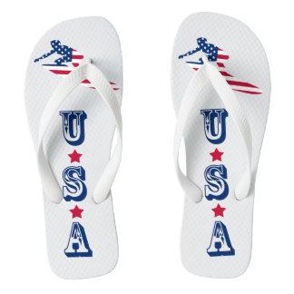 USA, die amerikanischen Surfer surfen Flip Flops