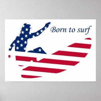 USA, die amerikanischen Surfer surfen Poster