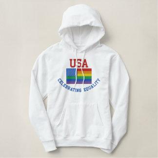 USA, die Gleichheits-Sweatshirt feiern Bestickter Hoodie
