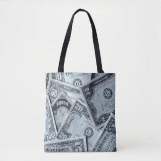 USA-Dollarbild für ganz vorbei - drucken Sie Tasche