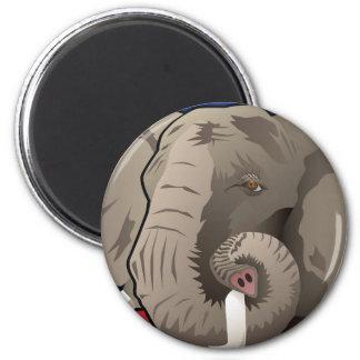 USA-Elefant, republikanischer Stolz Runder Magnet 5,7 Cm