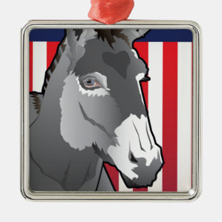 USA-Esel, Demokrat-Stolz Silbernes Ornament