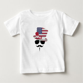 USA Fan with Mustache Baby T-shirt
