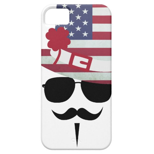 USA Fan with Mustache Etui Fürs iPhone 5