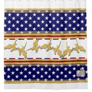 USA-FarbgoldEagles-Stern-weißer Duschvorhang