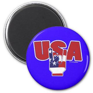 USA-Felsen! Amerikanischer Unabhängigkeitstag Runder Magnet 5,1 Cm