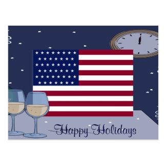 USA Flag_ Postkarten