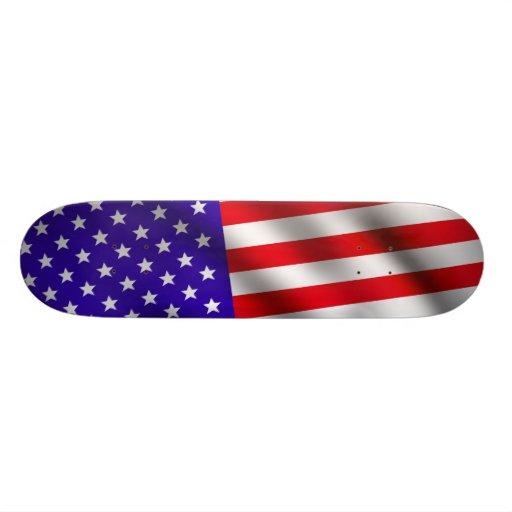 USA-Flagge 3 Skate Board