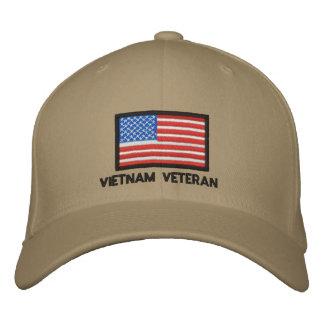 USA-Flagge - Amerika- - Vietnam-Veteran Bestickte Kappe