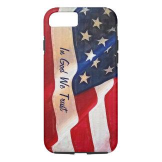 USA-Flagge - auf Gott vertrauen wir iPhone 8/7 Hülle